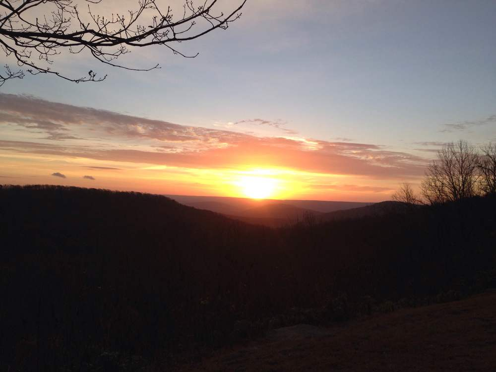Black Friday sunrise from the scenic overlook at Monte Sano State Park