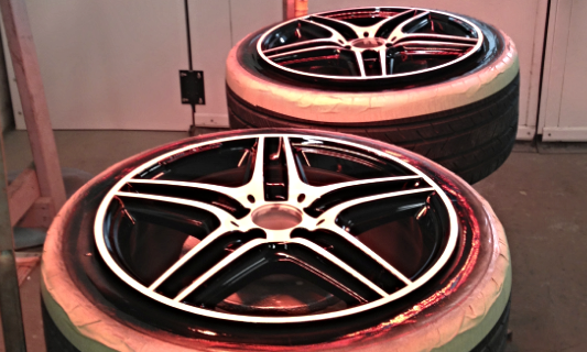 Wheels are clear coated and infrared cured