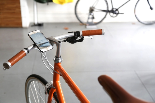The Finn Phone mount is a very simple design which safely attaches any smart phone device to your the handlebars of your bike. It is a perfect way to navigate your journey. $30.