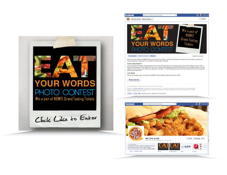 Interactive Social Media Campaign imagery created for Louisiana Restaurant Association