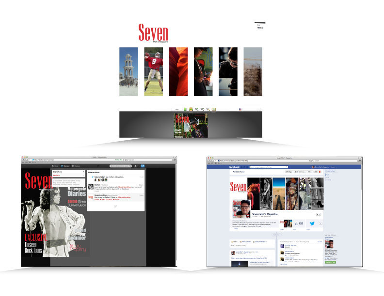 Website and Social Media developed for Seven Men's Magazine