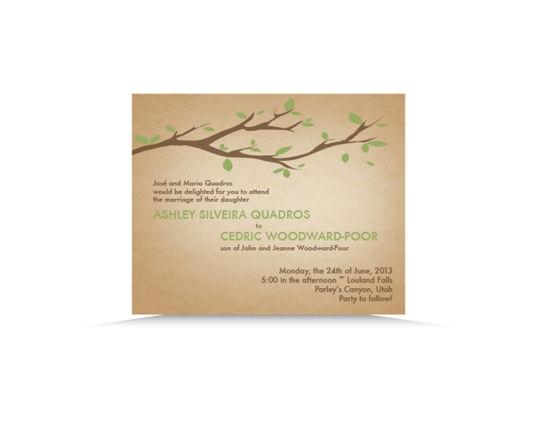 Wedding Invitation, Print