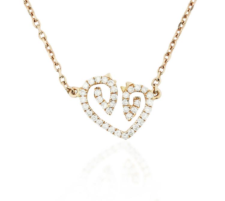 Rose gold diamond horse luv necklace karina brez jewelry rose gold diamond horse luv necklace aloadofball Choice Image