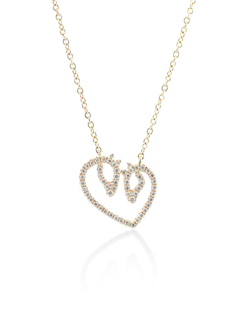 Medium yellow gold diamond horse luv necklace karina brez jewelry medium yellow gold diamond horse luv necklace aloadofball Choice Image