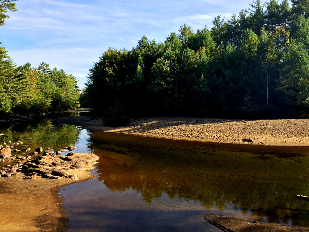 // Schroon River at Medcalf Acres campground, 2 miles from Paradox Lake