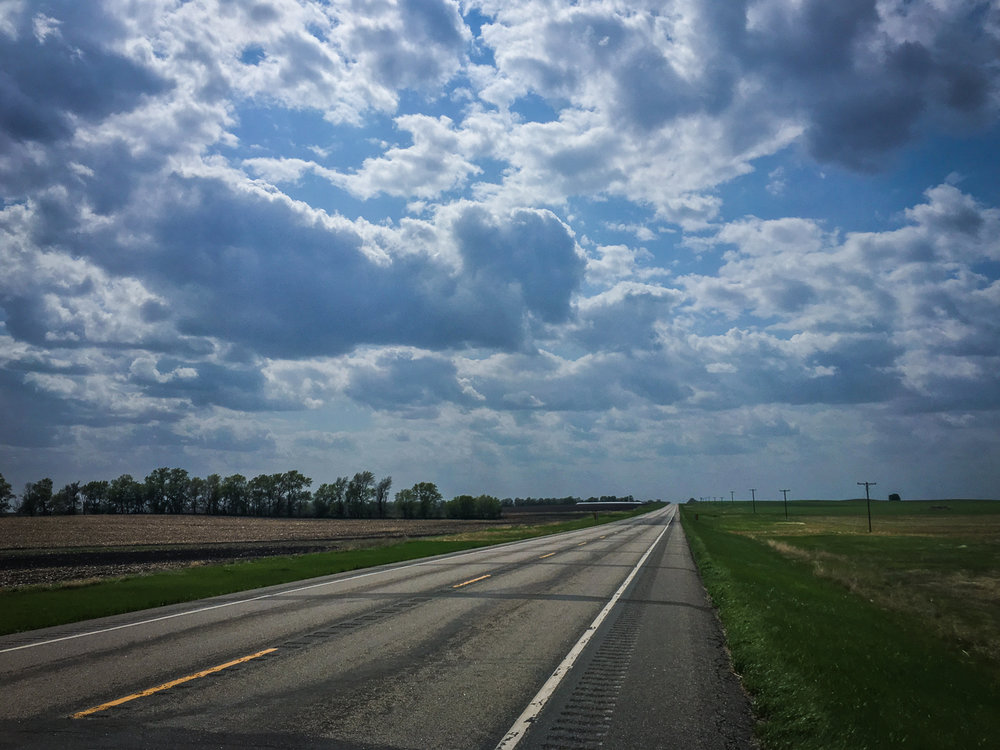 // On Highway 46, heading towards Gackle, North Dakota