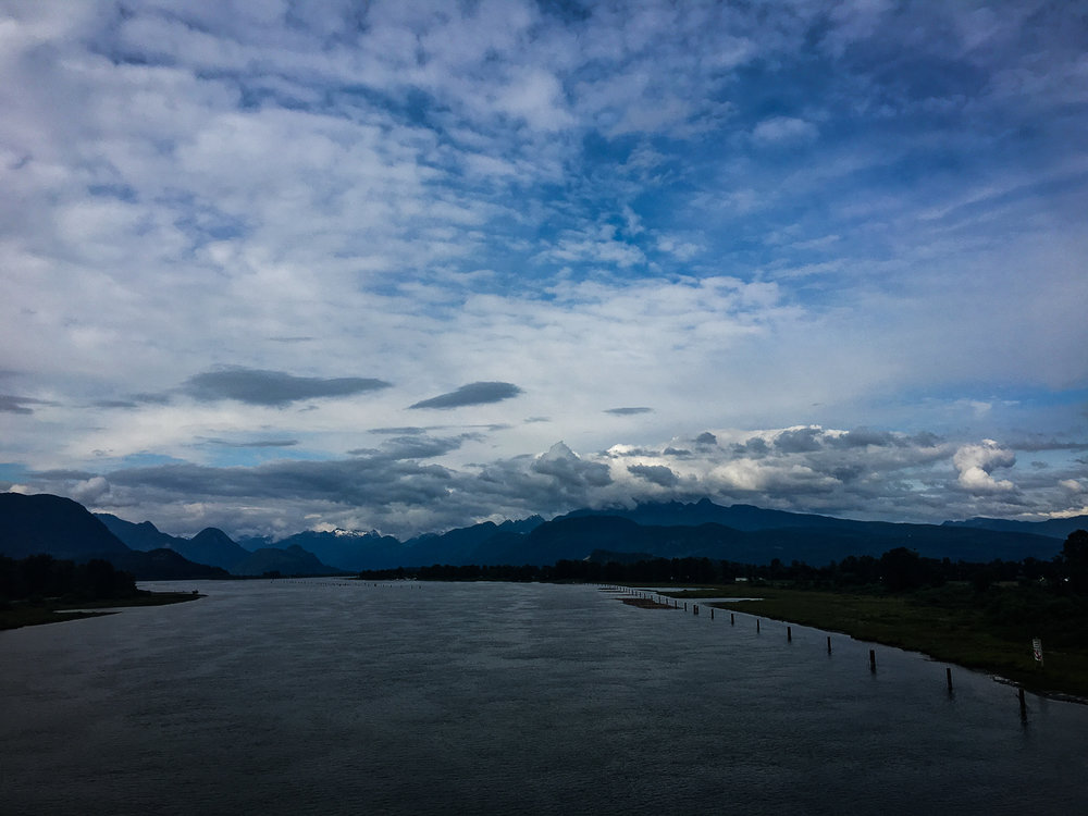 // Crossed over the Pitt River
