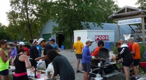 Thank you to the evening rowers who organized the bbq and raised money for the oar fund.
