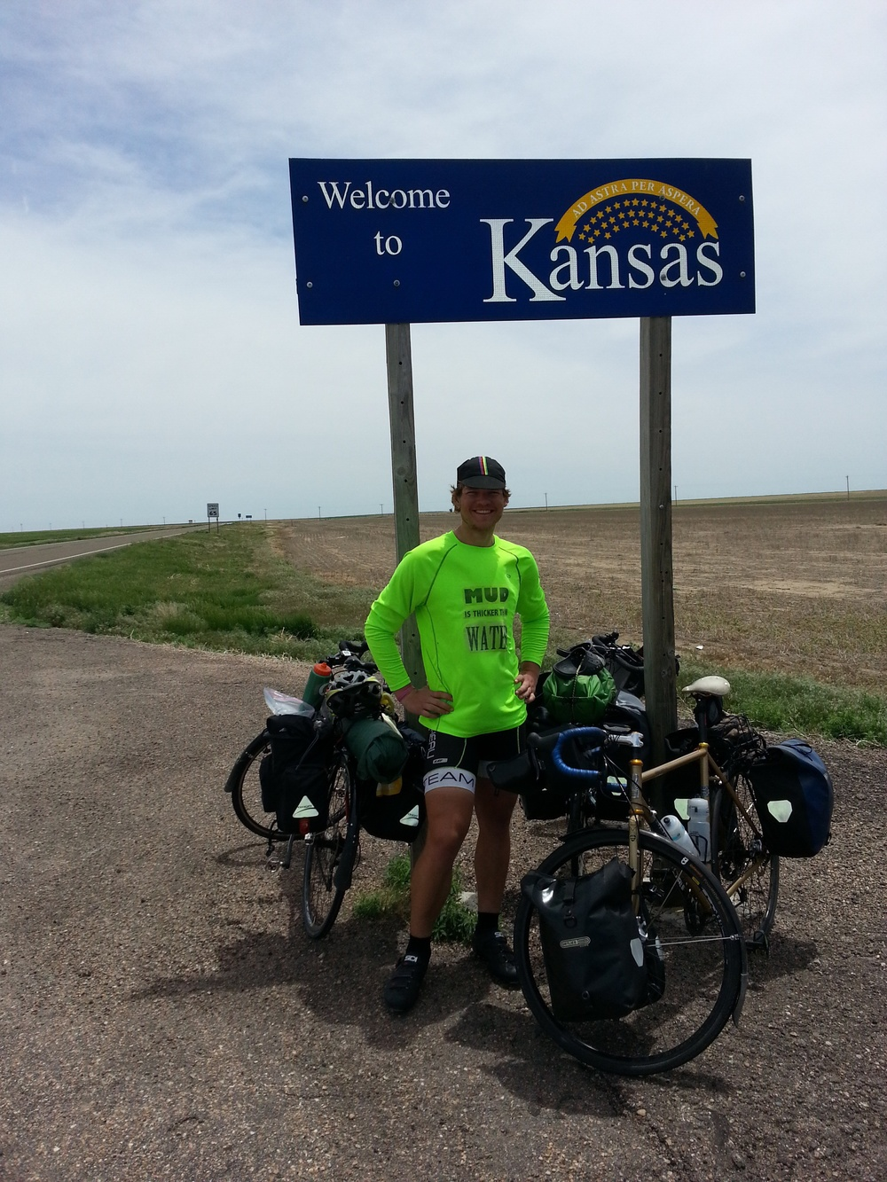We eventually entered Kansas...who knows when.