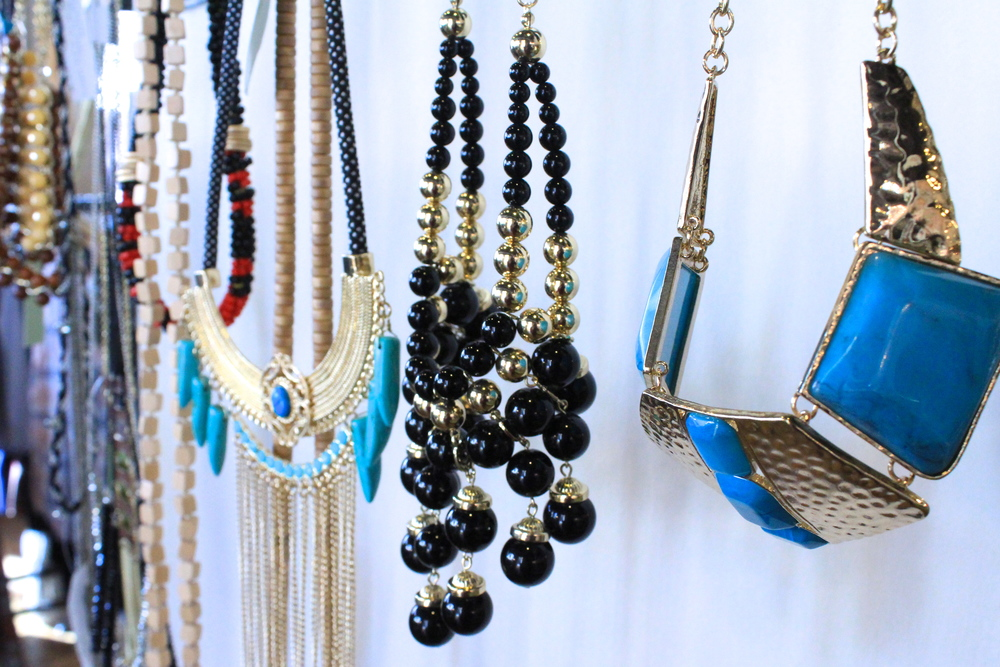 Tribal and statement necklaces from Langford Market   Photo Credit: Hannah Rose