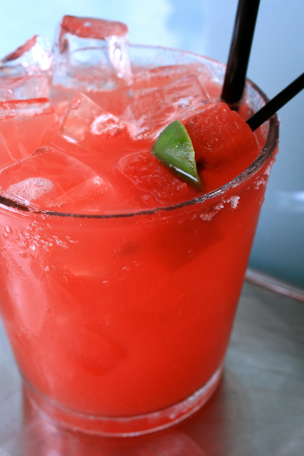 Jalapeno Watermelon Margarita at The Bonneville     Photo credit: Hannah Rose