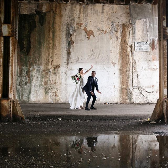 Kasia + Eddie - perfect spot for a dance party!