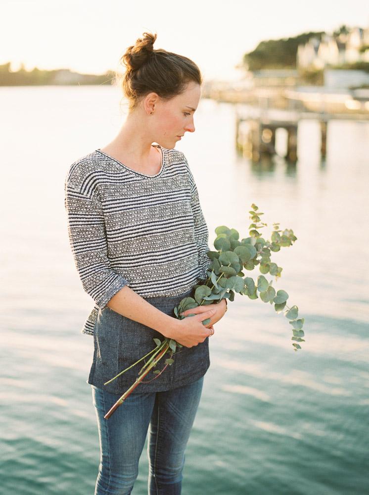 eucalyptus flowers, imogen xiana wedding photography, portrait on film