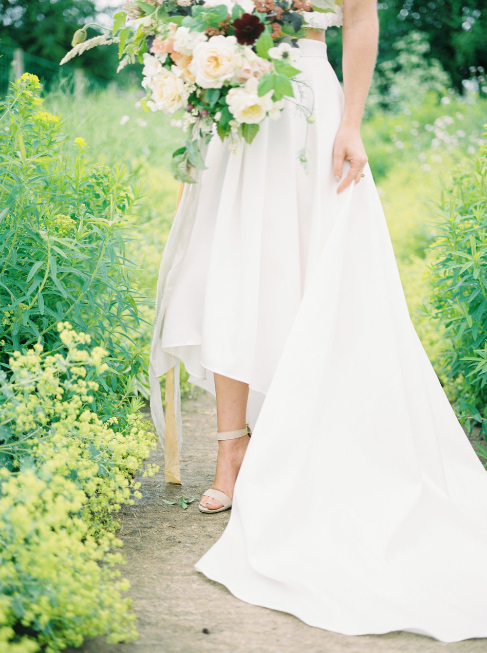 two piece wedding dress by cherry williams photographed by imogen xiana