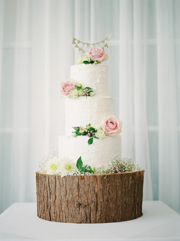 naked wedding cake dorset
