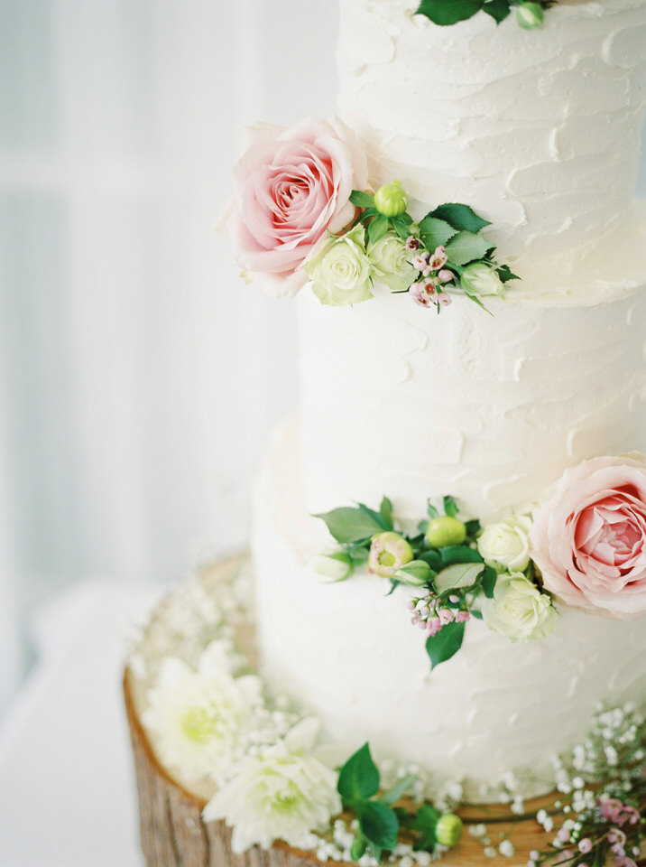 naked wedding cake at dorset wedding