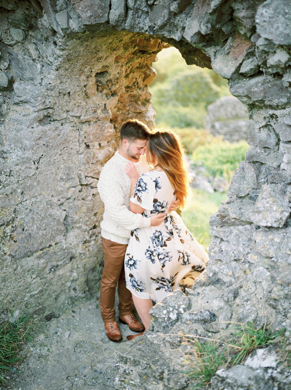 golden light in a castle in Ireland