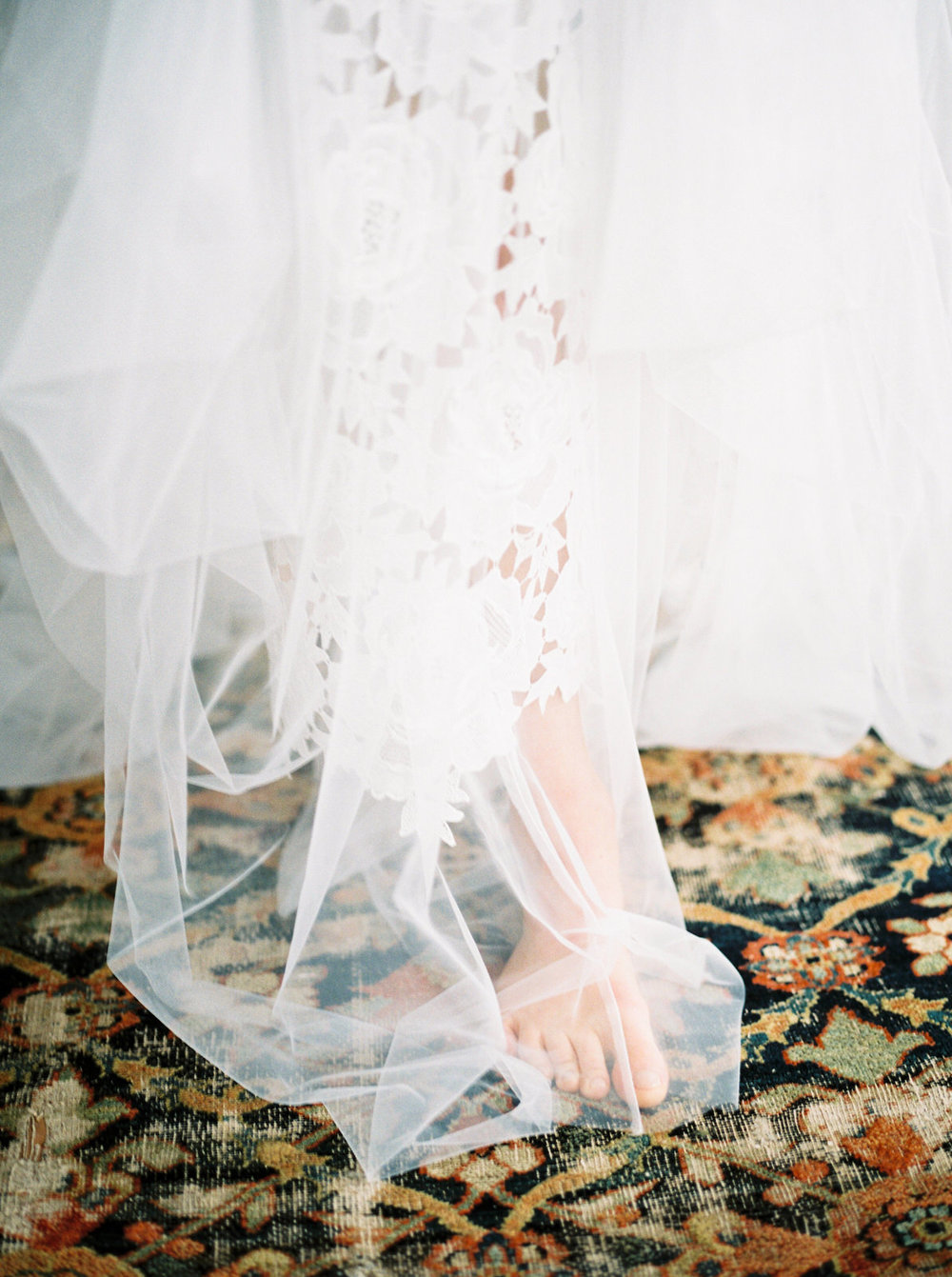 lace and tulle wedding dress and st giles house