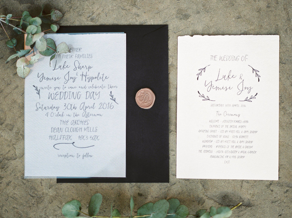 bronze wedding stationary