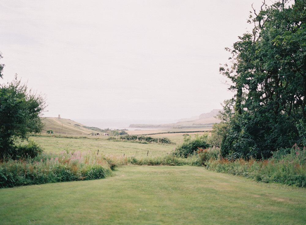 kimmeridge bay view from smedmore house wedding