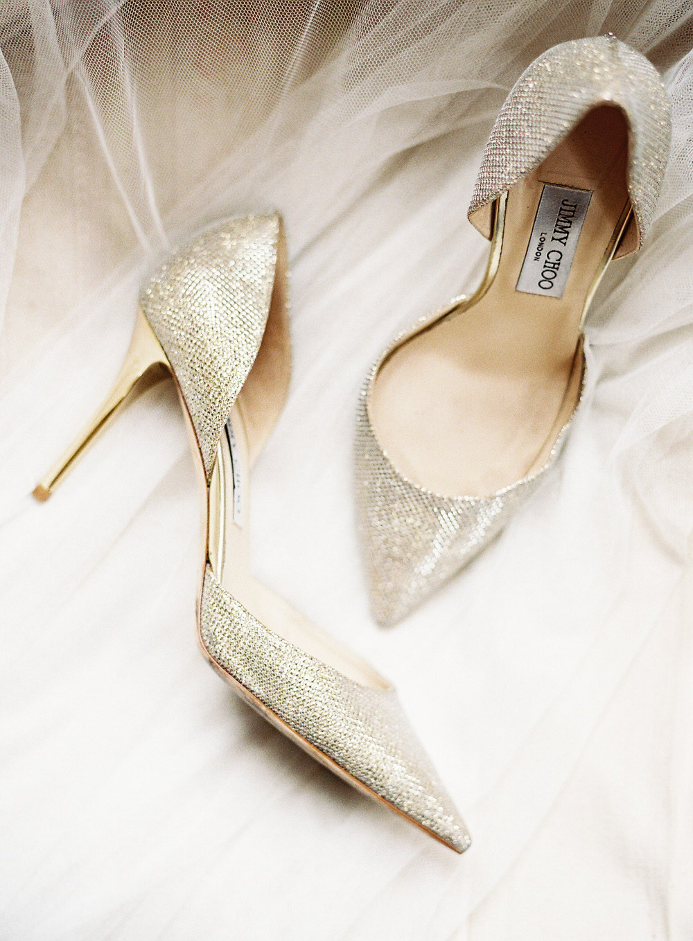 jimmy choo gold bride at smedmore house wedding