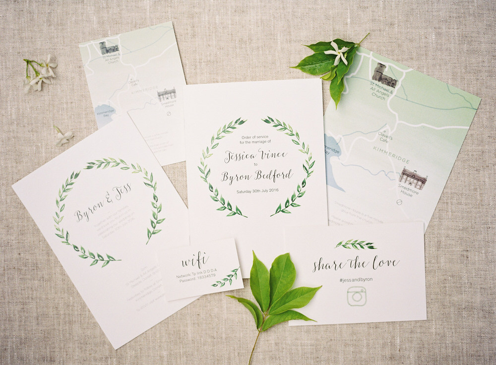 smedmore house wedding stationary