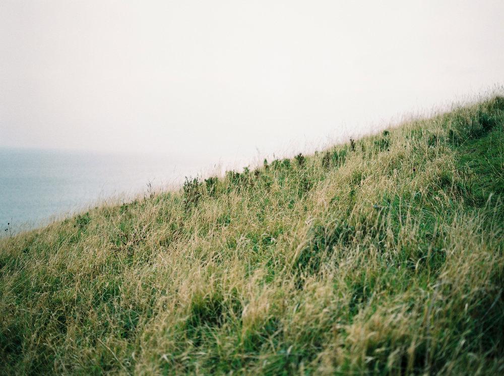 beautiful views on jurassic coast photographed on film