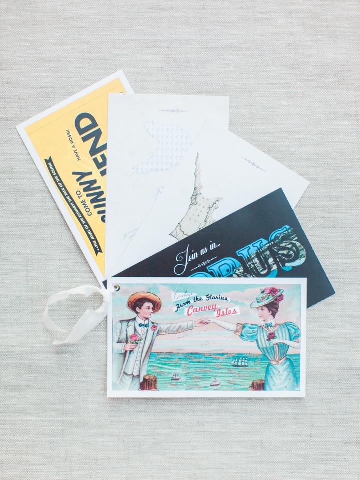cyprus wedding invitation