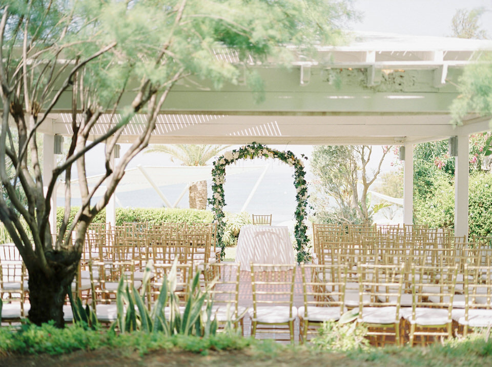 outdoor wedding ceremony mediterranean