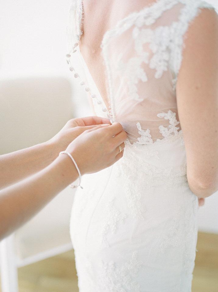 lace wedding dress in greece