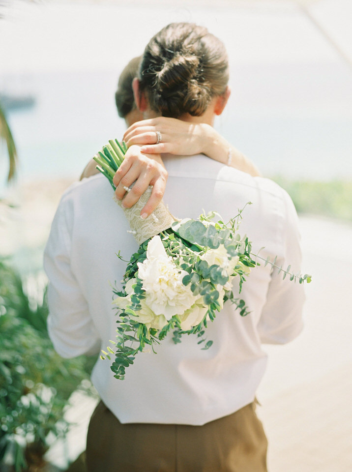 fresh greek wedding flowers