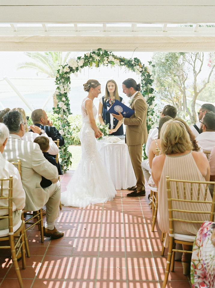outdoor wedding ceremony greece