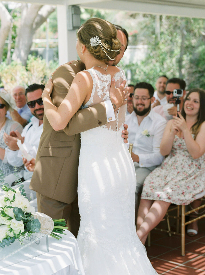 first kiss greece wedding photography