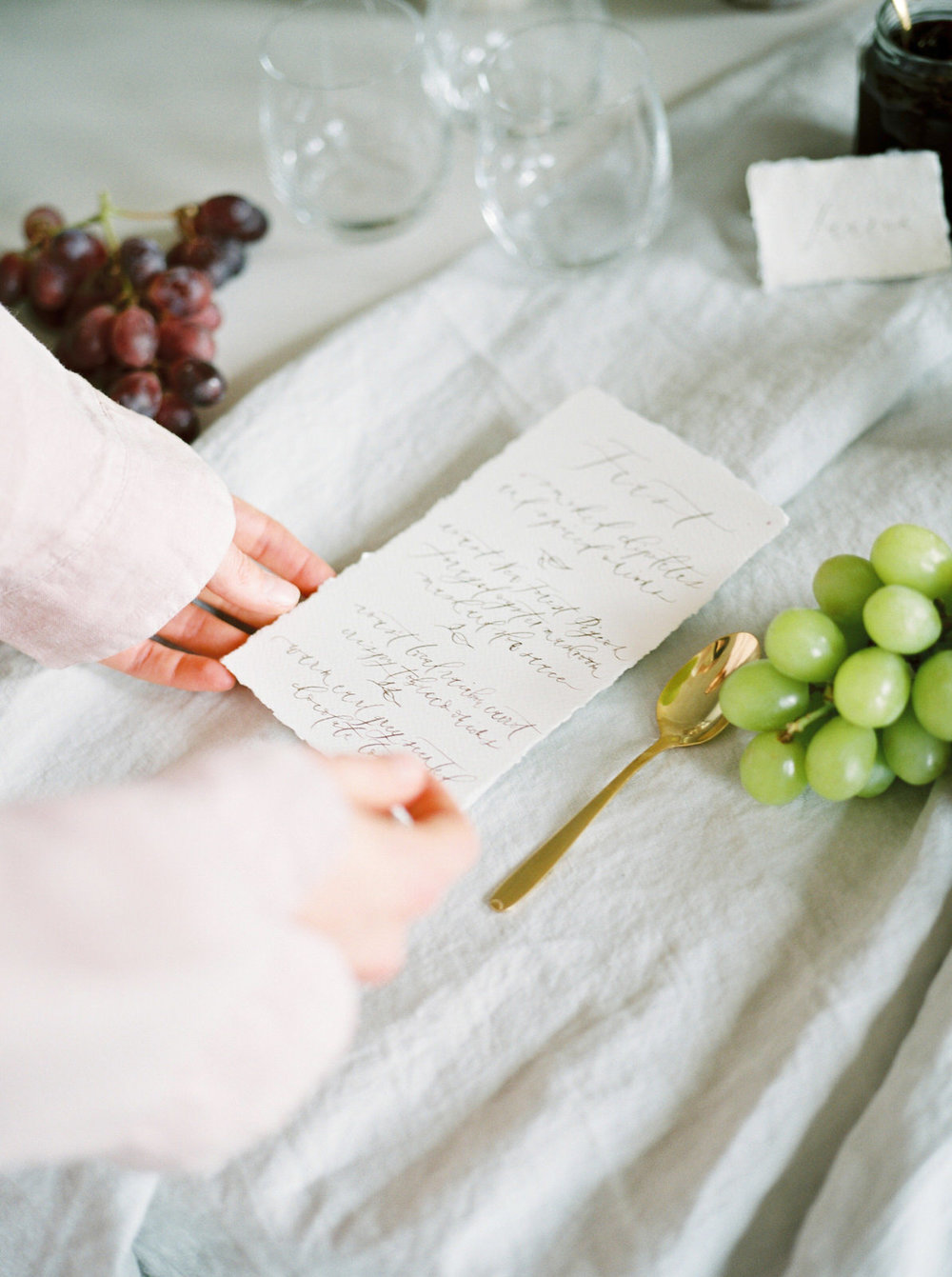handwritten wedding stationary