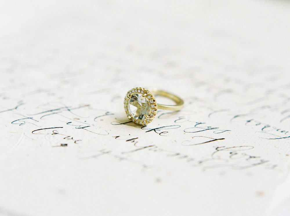 gold engagement ring by imogen xiana