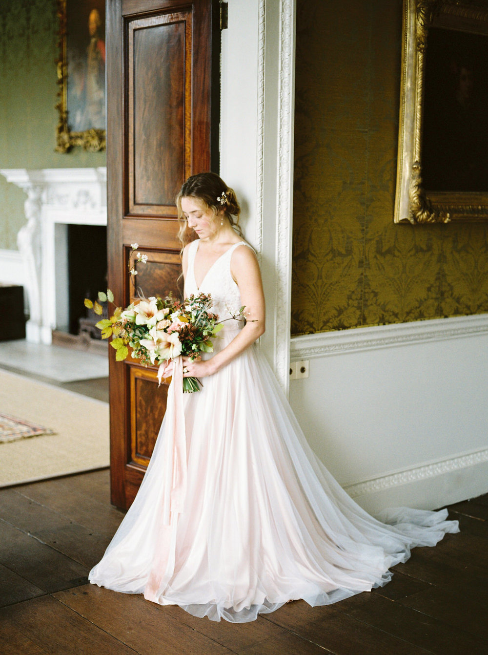 blush wedding dress by imogen xiana