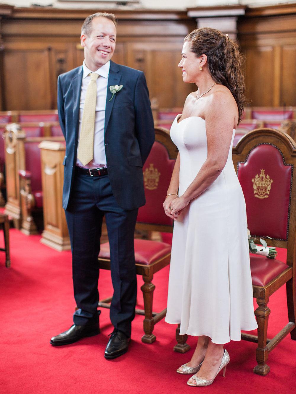 intimate london wedding