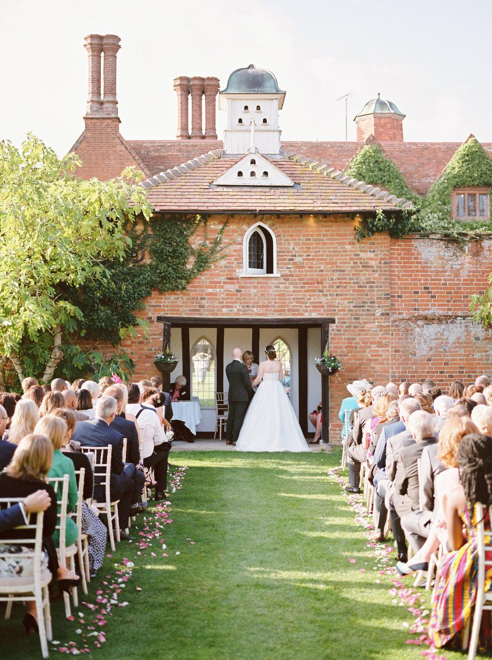 woodhall manor wedding ceremony