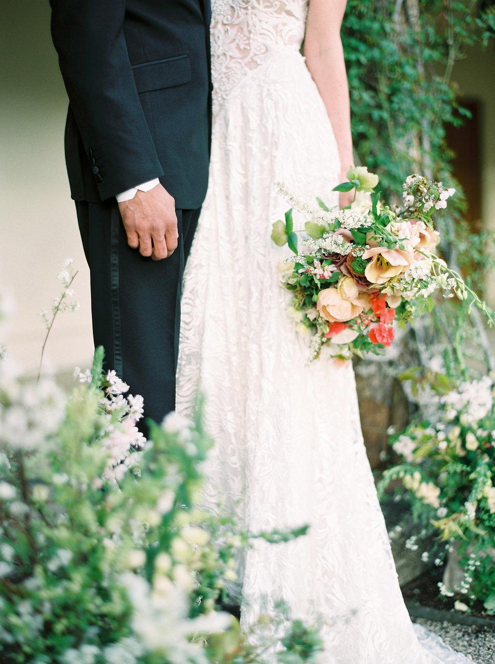 spring wedding flowers in dorset