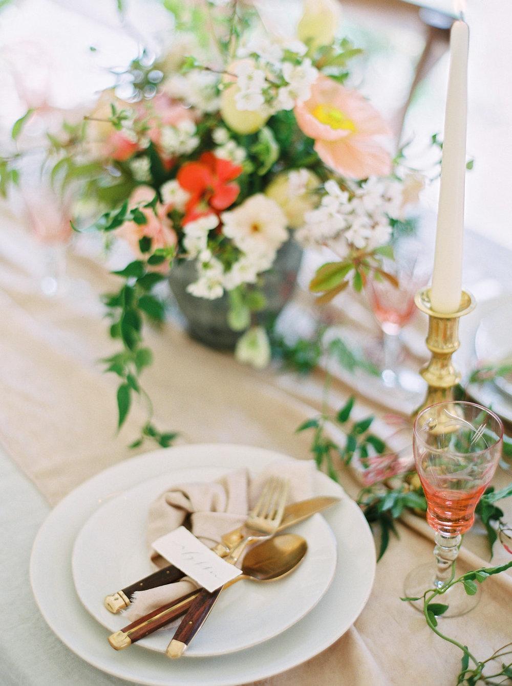 blush and peach wedding design by imogen xiana