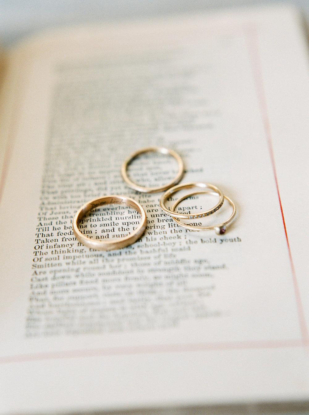 michaela romer gold wedding bands