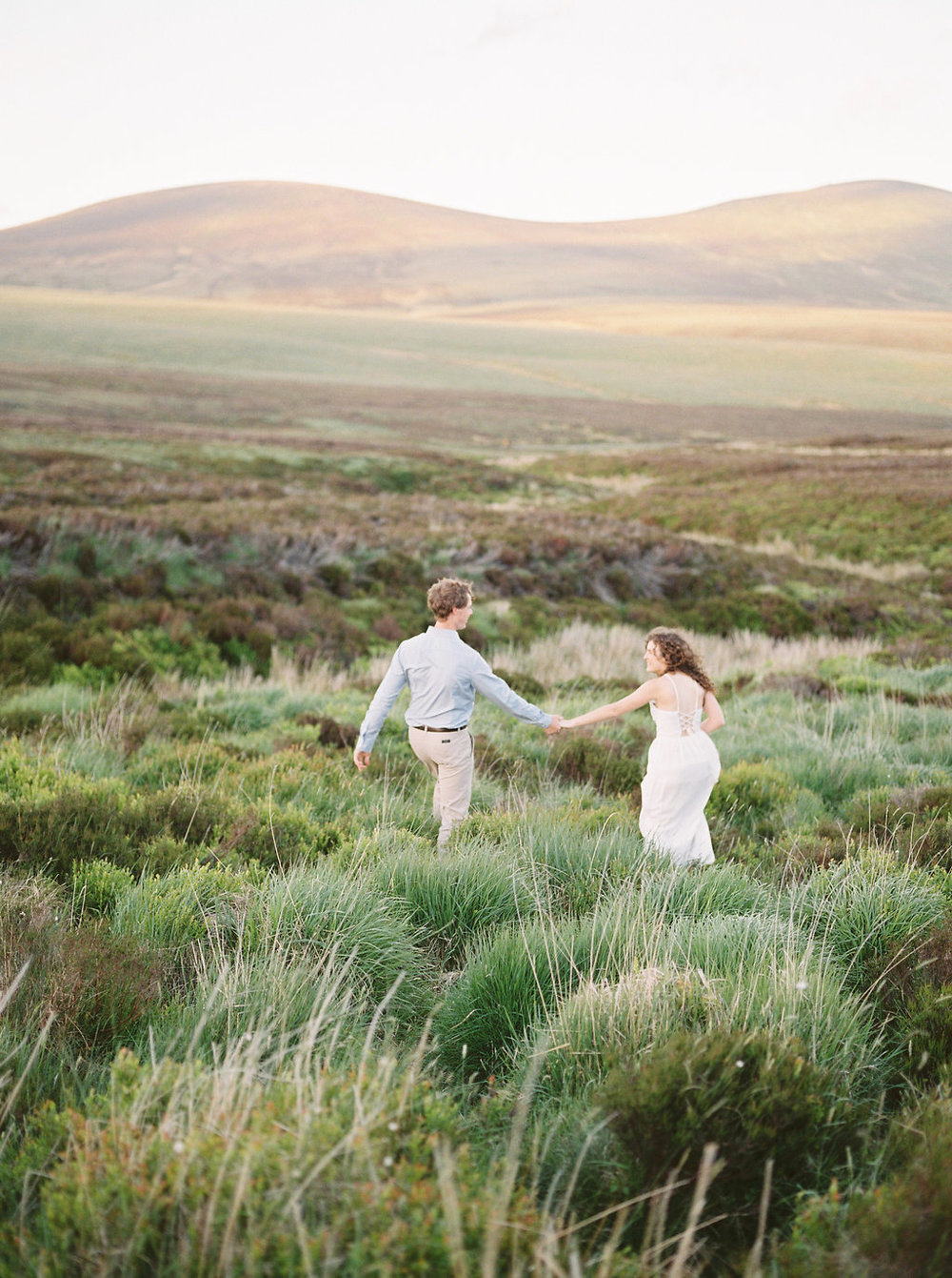 a pre wedding session in the irish mountains