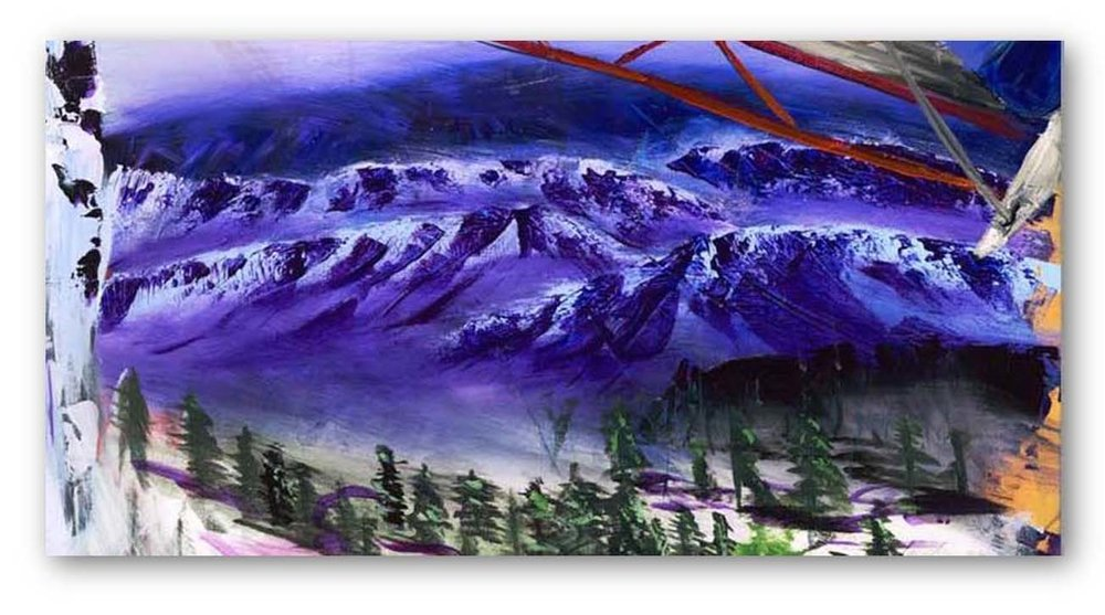 Purple Mountains - Using 10-inch Trowel
