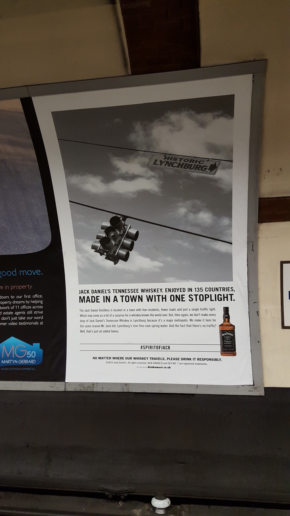 Photo of print ad in London Underground found  here