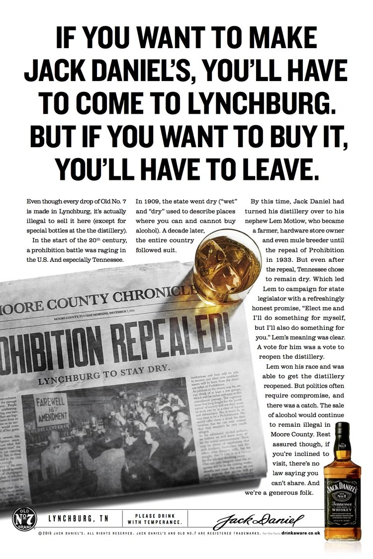 jack daniel s london underground lora olivia faris known for their stories of lynchburg the distillery and jack daniel himself these print ads bring a piece of small town tennessee charm and the jack