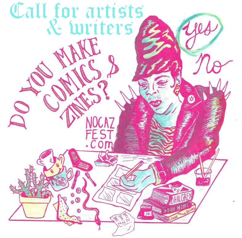 Are you a comics artist, zinester, or self published writer living in New Orleans? Or maybe you plan on being in town in the near future? Well have you ever considered adding yourself to the lineup of the next exciting installment of Your Friends Make Comics and Zines?! This event is an ongoing series of comic and zine readings throughout the city put on by the organizers of NOCAZ. We are excited about readings that incorporate some type of performance. The type of stuff that is being made in the world of D.I.Y. publishing is exciting and lively so we want to challenge creators to present their work in a dynamic way. What this looks like is totally up to interpretation for each person! We are currently seeking readers and performers for our upcoming spring and summer events. We are particularly excited about amplifying voices marginalized by the mainstream publishing industry. If you think you would be a good fit then send us an email at nocazfestival@gmail.com tell us a bit about yourself and show us some of your work if you can.