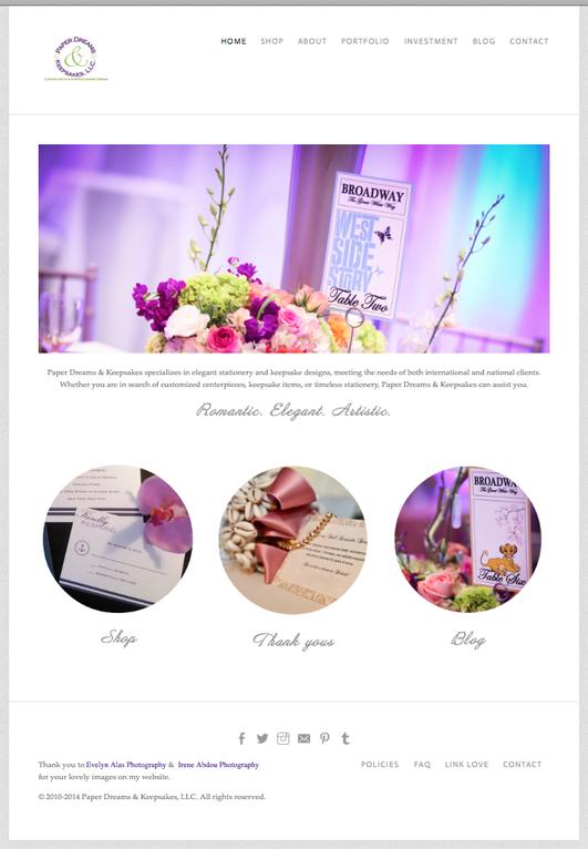 Paper Dreams Webpage