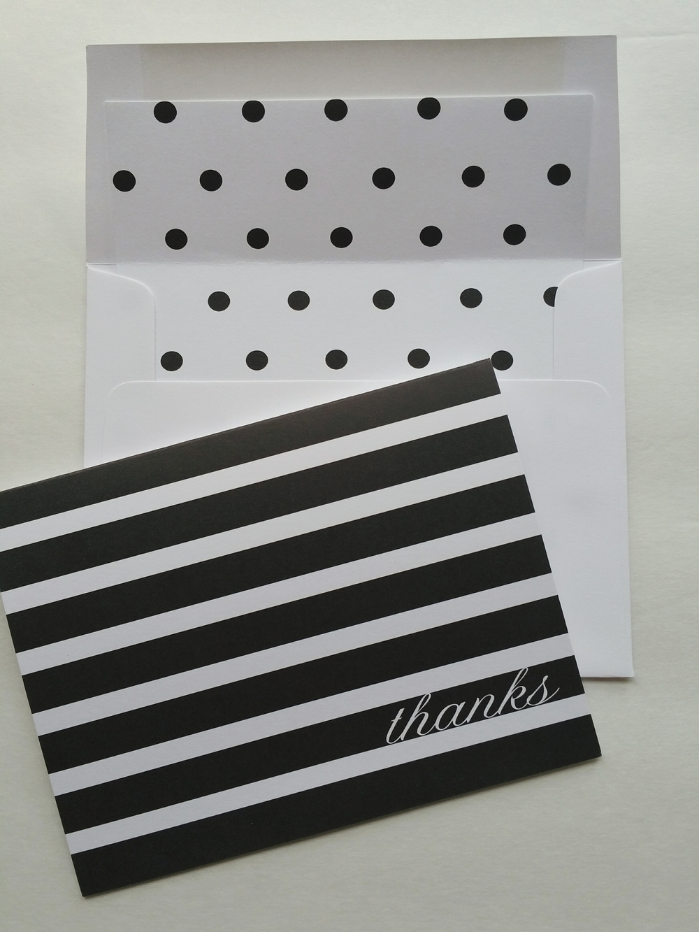 Paper Dreams LLC | Http://www.paperdreamsllc.com | New York Stationery Designer | Stripes and Polka Dot Note Card Set