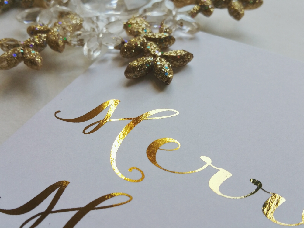 Merry Merry Holiday Foil Card
