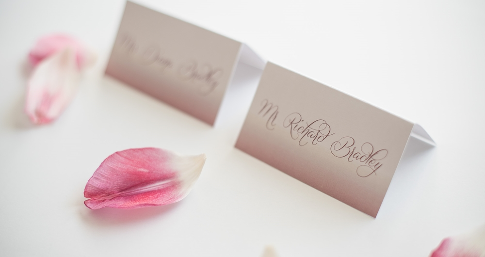Paper Dreams + Keepsakes | Http://www.paperdreamsllc.com | New York Stationery Designer | Ombre Watercolor Place Cards